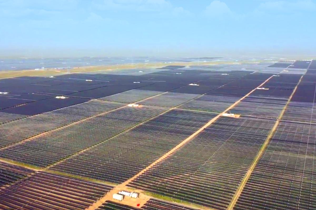 بزرگ ترین سایت انرژی خورشیدی در چین بهرهبرداری شد